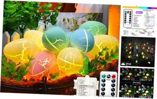 1 20 Easter Eggs LED String Lights3ft Battery Operated 8 Modes with Remote