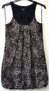 AX-Paris-sleeveless-leopard-pattern-bubble-dress-size-10