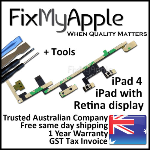 iPad 4 OEM Power Volume Button On Switch Flex Cable Mute New Replacement Tools