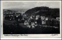 Finsterbergen Thüringen DDR Postkarte 1949 Gesamtansicht Totale Wald gelaufen