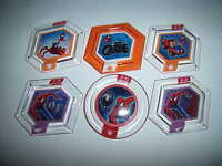 Disney Infinity 2.0 Power Disc Lot Spider Man Buggy Cycle Alien Copter Glider