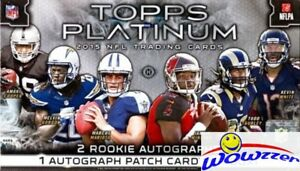 2015-Topps-Platinum-Football-Factory-Sealed-HOBBY-Boxes-3-AUTOGRAPHS-Loaded
