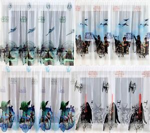 Star Wars Gardine : disney gardine star wars kindergardine kinderzimmer 4 motive jungen neu ebay ~ Watch28wear.com Haus und Dekorationen