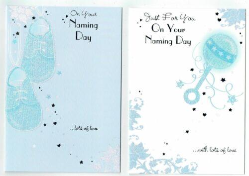 Bébé Garçon Baptême Jour Carte choisir parmi deux Designs