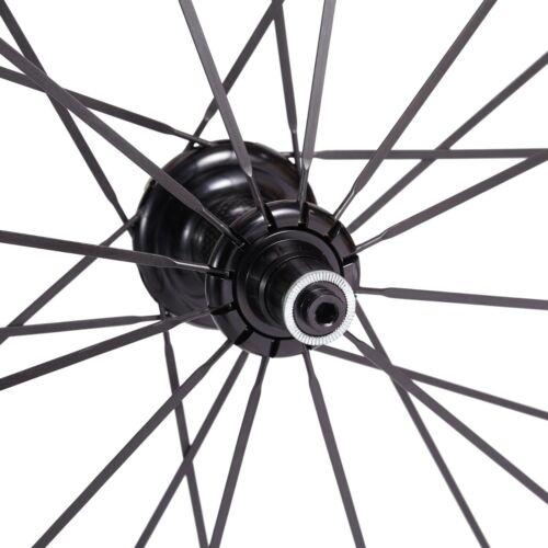 Details about  /Road Bike Carbon Wheels 50mm Alum Alloy Brake Straight Pull R36 hub Sapim Spokes