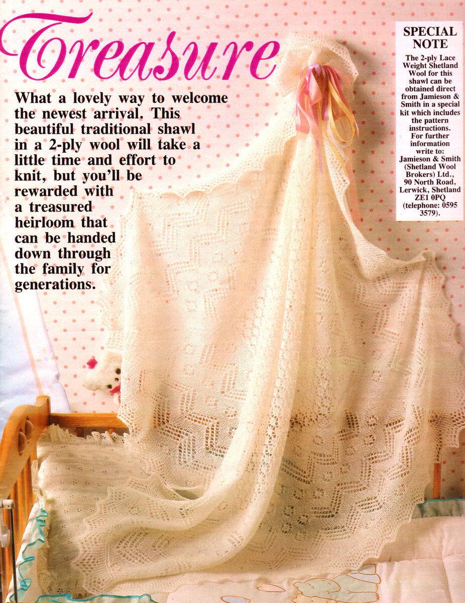 Traditional Shetland Lace Square 2 Ply Baby Shawl Knitting Pattern eBay