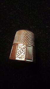 HEAVY GOLD-PLATED THIMBLE - SIZE 10