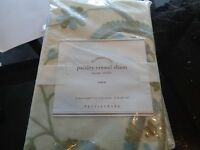 2 Pottery Barn Paisley Crewel Euro Shams With Tag