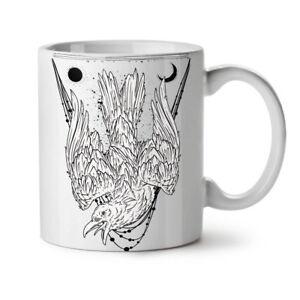 Crazy Crow Bird Life NEW White Tea Coffee Mug 11 oz   Wellcoda