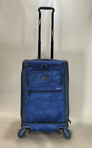Used-Tumi-Alpha-2-Exp-International-Carry-On-Front-Lid-Navy-Restoration-22560NVR