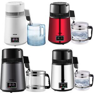 VEVOR Home Water Distiller Distilled Water Maker 4L w/ Dual Temp Display 4 Color