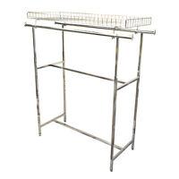 48-72 Double Parallel Bar Top Basket Rack Clothes Garment Retail Display Rack