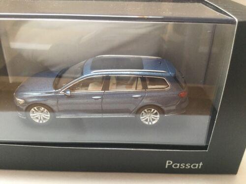 VOLKSWAGEN VW Passat Variant B8 1:43 Herpa 3G9.099.300.A.B5J  Harvard Blue  OVP