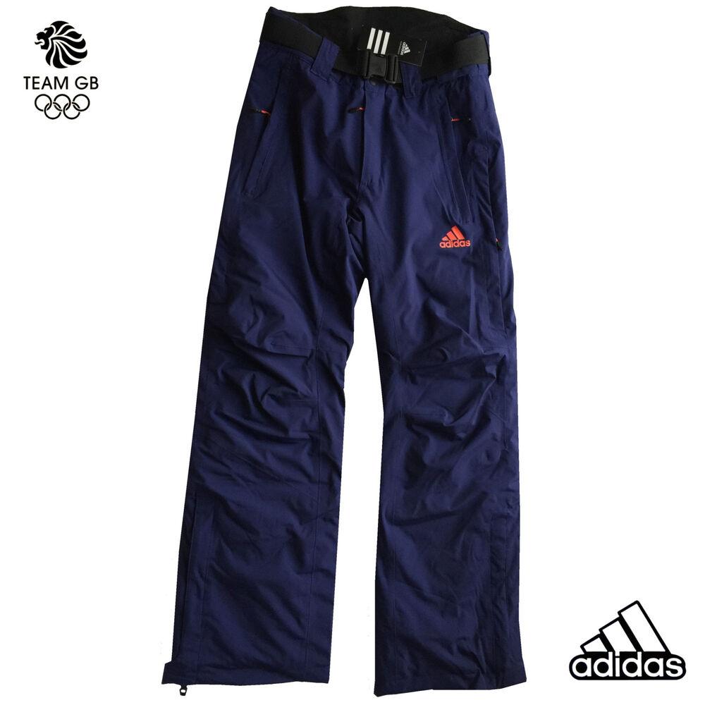 "Adidas Team Gb Issue-elite Athlete Bleu Hiver Technique Pantalon De Ski 26"" RafraîChissement"