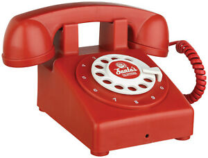 Santa Claus Telephone TALKING Christmas Prop Red North Pole Workshop Sound