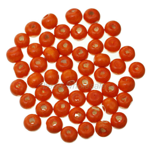300pcs 8mm Lots Round Wooden Ball Loose Spacer Beads Findings Jewelry Making DIY