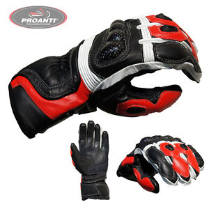 Motorradhandschuhe-Racing-Leder-Motorrad-Handschuhe-PROANTI-M-XXL