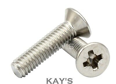 2.5mmØ POZI COUNTERSUNK MACHINE SCREWS ZINC PLATED POZI DRIVE CSK BOLTS M2.5