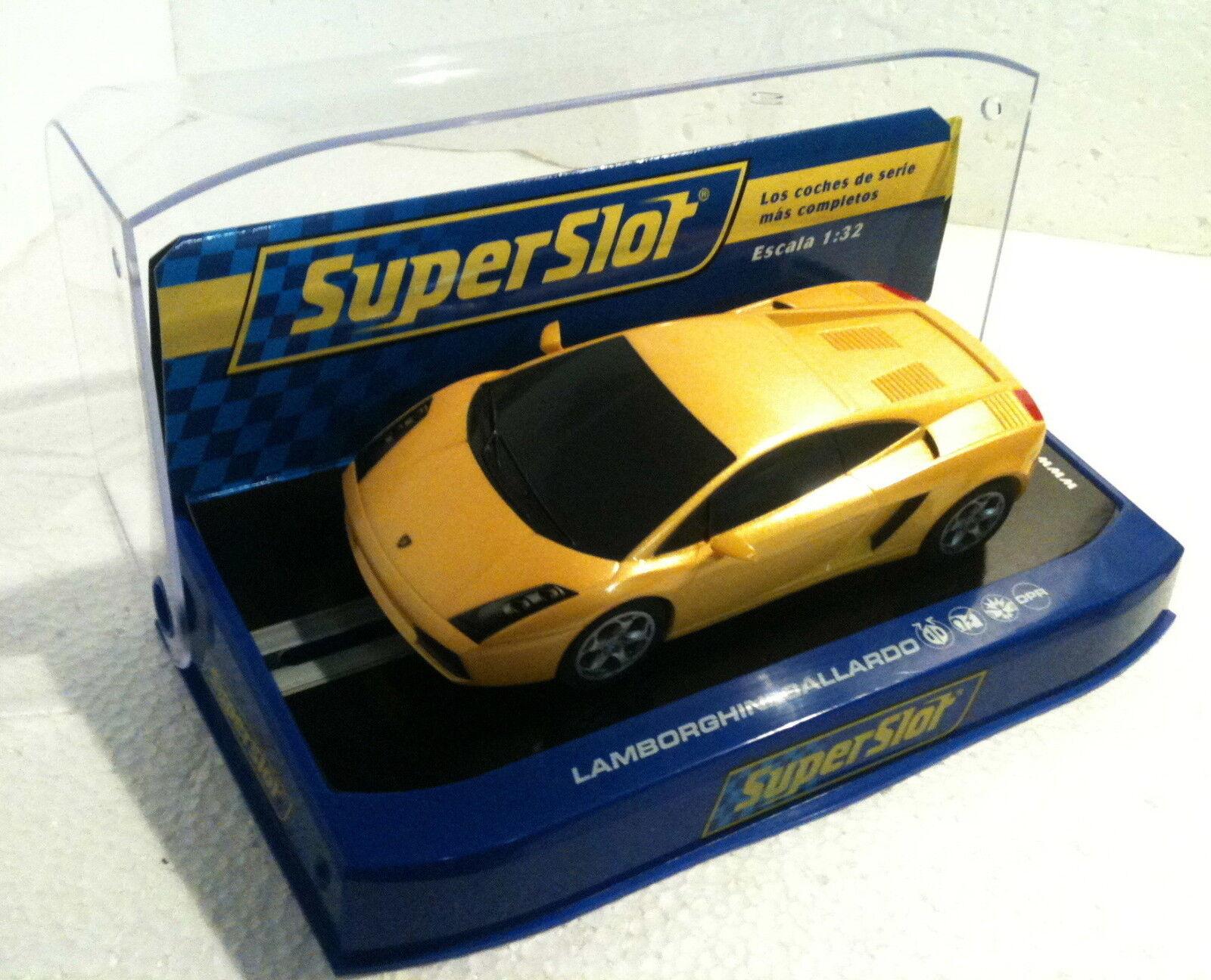 Qq H 2810 SUPERSLOT LAMBORGHINI GALLARDO JAUNE ROAD CAR - Scalextric RU