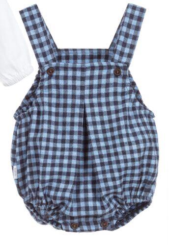 3 to 36 Months Peter Pan Collar 2pc Blue Check Set by Spanish  Brand Babidu