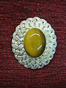 MAGNIFICENT-VINTAGE-STERLING-SILVER-TIGER-EYE-PIN-PENDANT