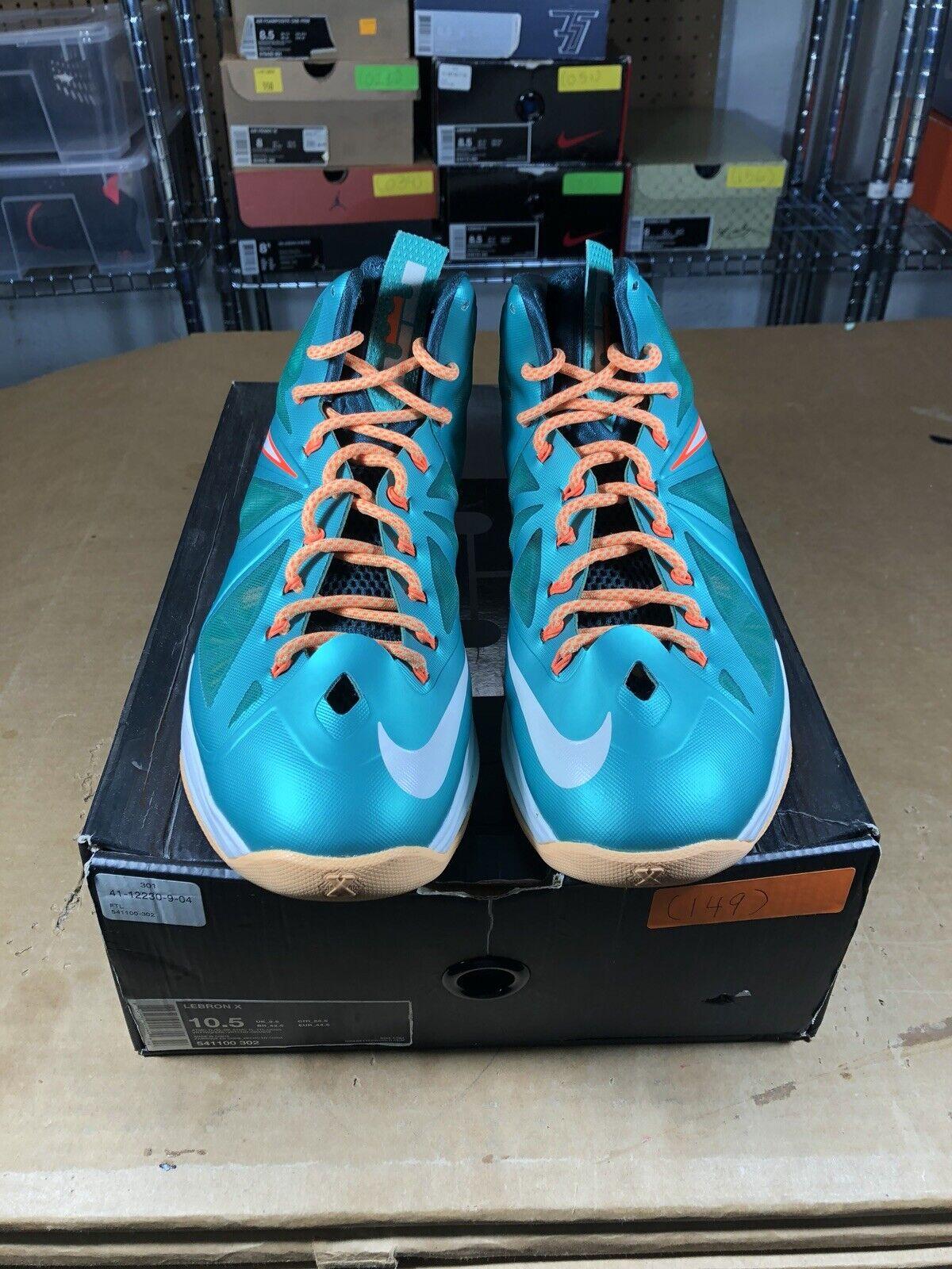 100% Authentic Nike Lebron 10 Setting Size 10.5 541100 302