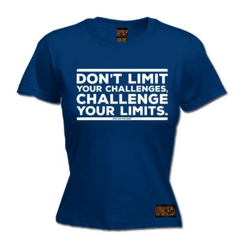 Ladies Cycling Challenge Your Limits cycle funny Birthday T-SHIRT