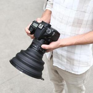 L-Universal-Reflexion-Free-zusammenklappbar-Fotografie-Gegenlichtblende-fuer-Kamera-Handy
