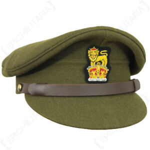 WW2 British Army Visor Cap - Repro Military Peak Hat Uniform Soldier ... 281e68f2054