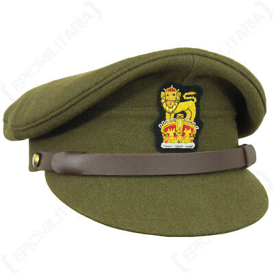 9b4e9828 Details about WW2 British Army Visor Cap - Repro Military Peak Hat Uniform  Soldier Officer New