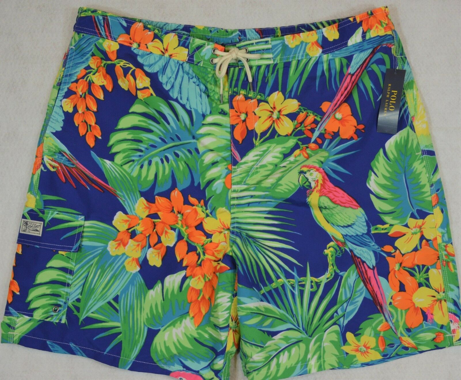 Polo Ralph Lauren Swim Trunks Board Shorts bluee Jungle Parreds 3XB 3X NWT