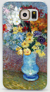 Image is loading Vincent-Van-Gogh-Flowers-In-A-Blue-Vase- & Vincent Van Gogh Flowers In A Blue Vase Oil Hard Case Cover For All ...