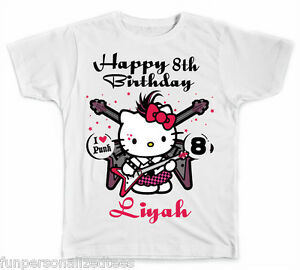 3a1a7032 Image is loading Personalized-Rock-and-Roll-Hello-Kitty-Birthday-T-