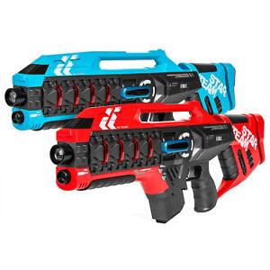 Details about 2 PCS Set Red Blue Kids Infrared Blaster Laser Tag Machine  Gun Toy Life Tracker