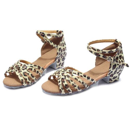 Brand New Women Children Girl/'s Ballroom Latin Tango Dance Shoes heeled Salsa601