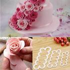 Silicone 3D Rose Flower Fondant Cake Chocolate Sugarcraft Mould Mold Decor Tools