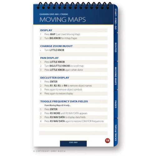 Garmin//King Combo 530//430//480//CNX 80 /& KLN 94//89B Checklist Book by Qref