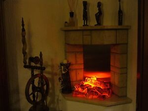 kaminfeuer elektrisch ambiente pur kamin deko ebay. Black Bedroom Furniture Sets. Home Design Ideas