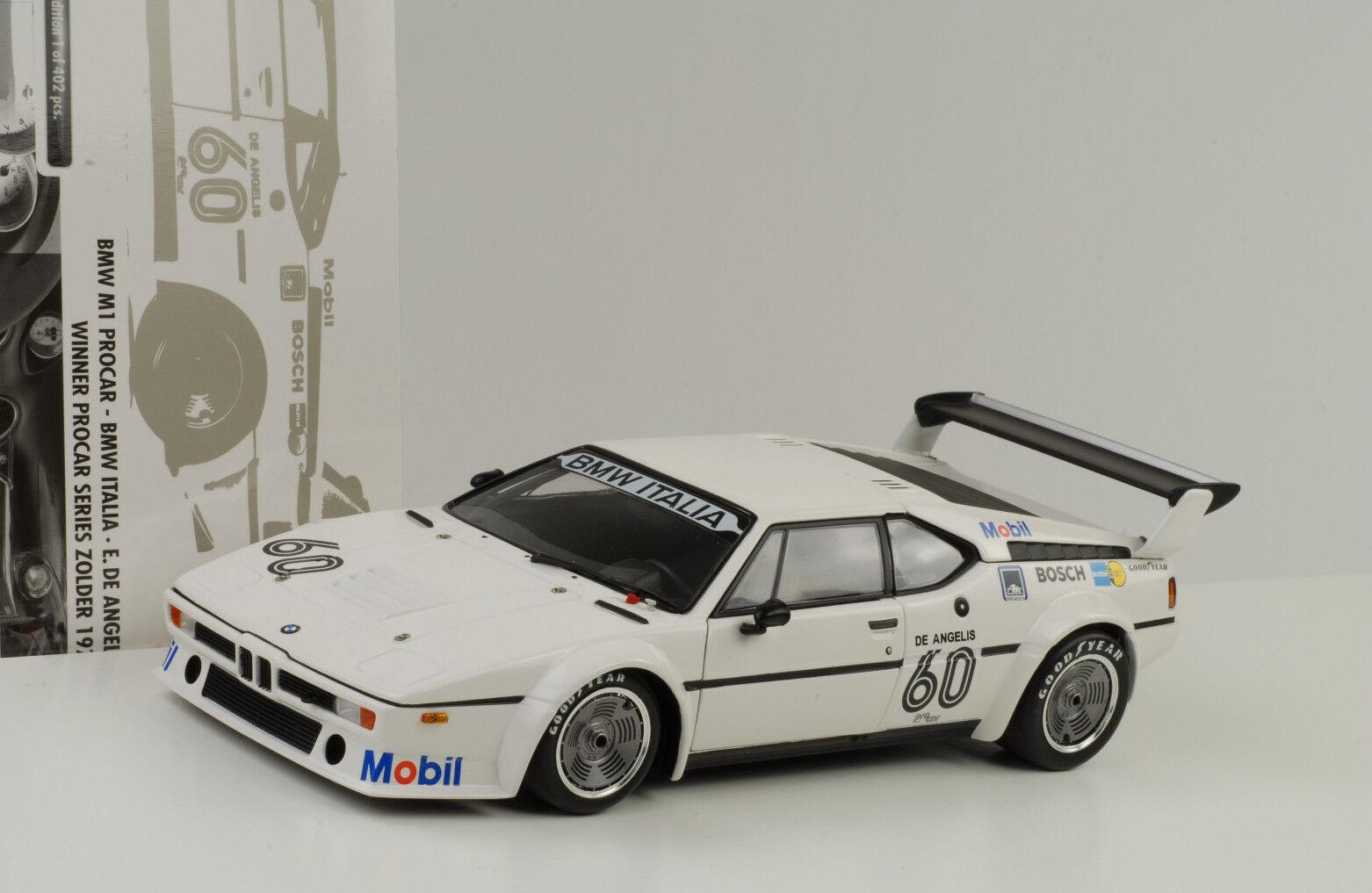 1979 BMW M1 Procar Italia Winner Zolder de Angelis  18 Minichamps