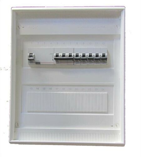 Hager Kleinverteiler 2-reihig mit Legrand® Einbaugeräten und Überspannungsschutz