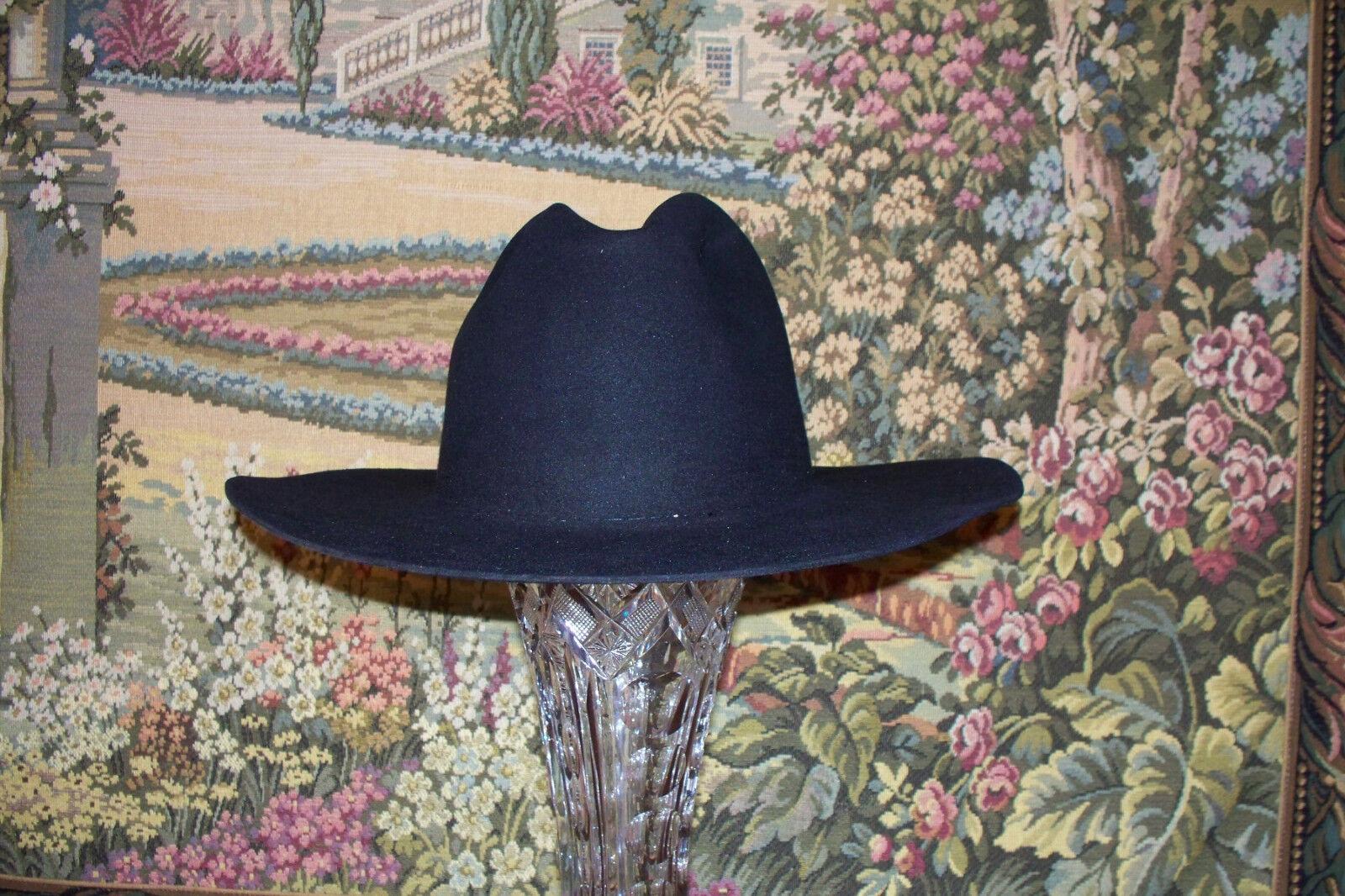 American Hat Company Black 5/8 Beaver Felt Sz 7 5/8 Black  in Box Worn a few times 6dc761