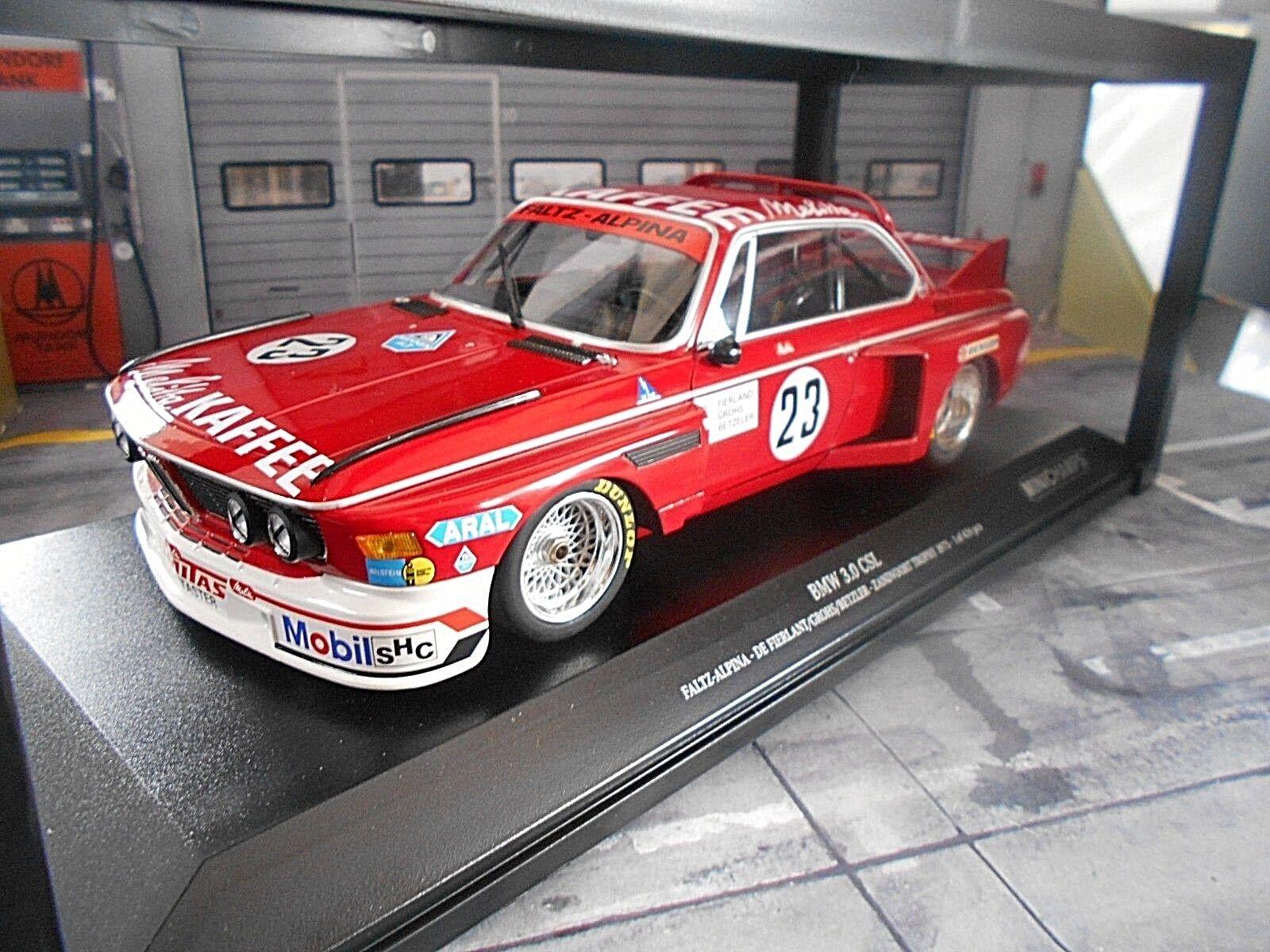 BMW 3.0 CSL Zandvoort 1975  23 Grohs Betzler Faltz Alpina Melitt MINICHAMPS 1 18