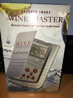 Sharper Image Wine Master Electronic Pocket Guide Over 10,800 Wines Sealed