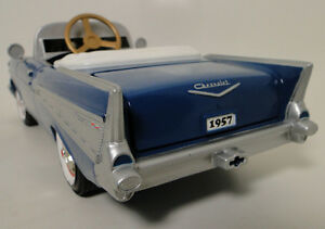 Rare-1957-Chevy-Pedal-Car-Vintage-BelAir-Metal-Collector-gt-gt-gt-9-5-Inches-in-Length