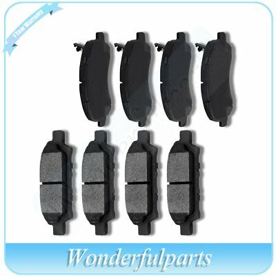 Front Rear Ceramic Brake Pads For 2007-2008 Jeep Compass Patriot Low Noise