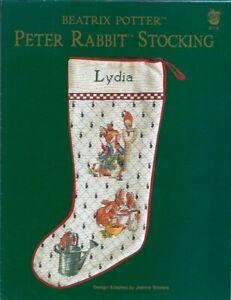 Beatrix-Potter-Peter-Rabbit-Stocking-for-Cross-Stitch-Green-Apple-617E-Christmas
