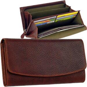 CHIEMSEE-Hirsch-Leder-Damen-Geldboerse-Brieftasche-Geldbeutel-stag-leather-purse