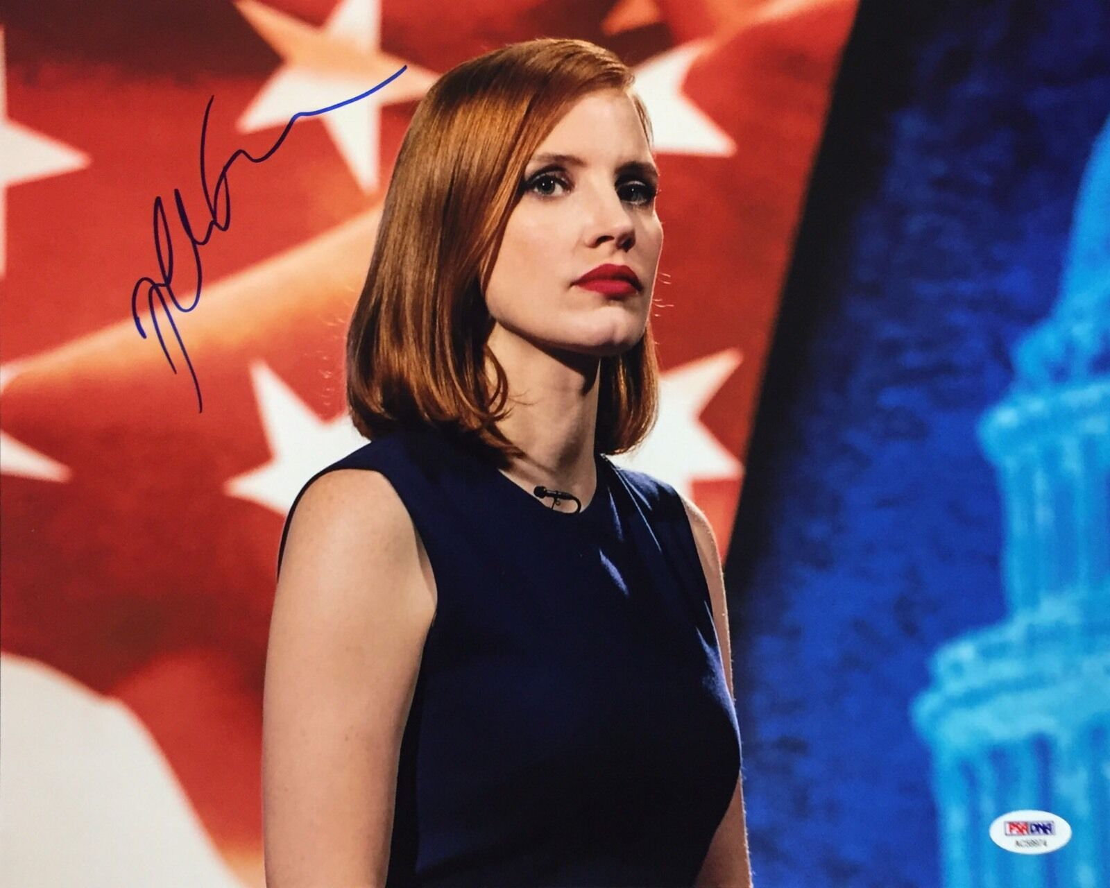 Jessica Chastain Signed 11x14 Photo *The Help *The Martian *Mama PSA AC59974