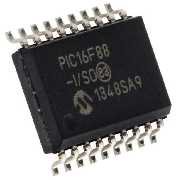 PIC16F88-I/SO 8 bit PIC Microcontroller 20MHz 256B, 7168 B Flash, 368 B RAM SOIC