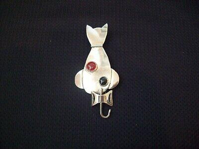 Vintage Taxco Cat Design Pinbrooch 925 Sterling Bb 784-e 123702070532
